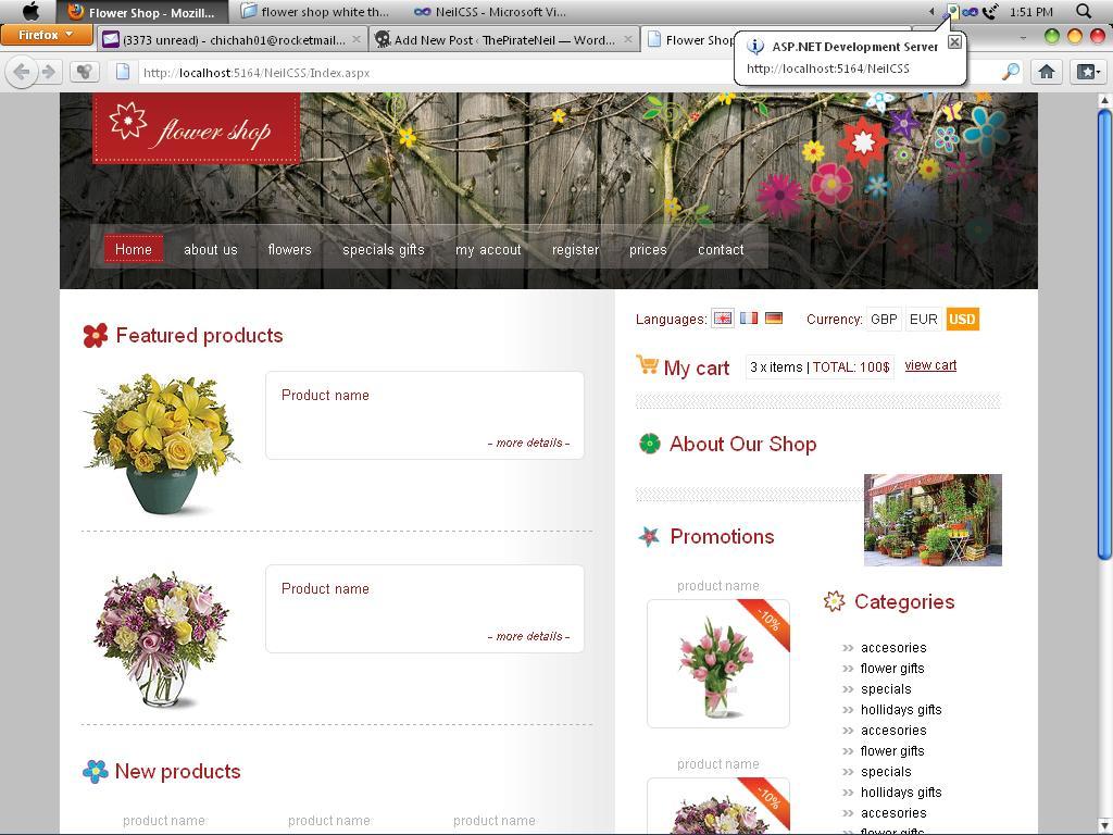 flower shop css for asp.net   ThePirateNeil